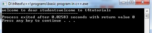 Basic Program  in C++