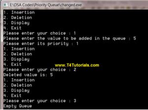 Program to Implement Priority Queue in Data Structures (C plus plus)
