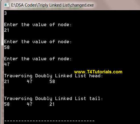 Program to Implement Triply Linked List in Data Structures (C plus plus)