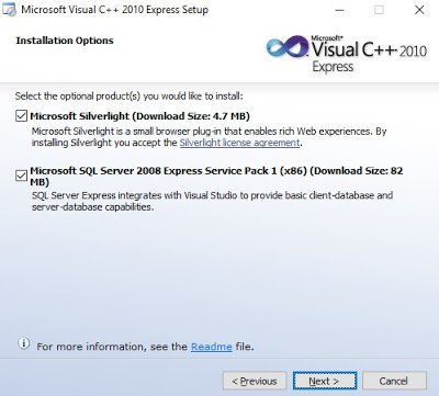 Installation of MS Visual C++ Step 2