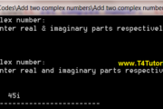 Program for the addition of two complex numbers in CPP (C plus plus)