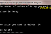 Program to delete values from the array in CPP (C plus plus)