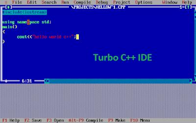turbo-c++ IDE