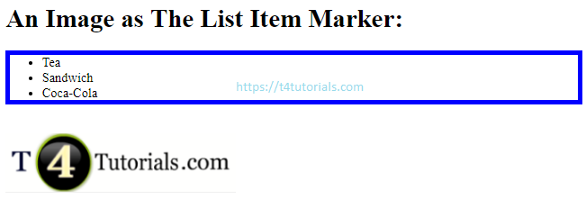 An Image as The List Item Marker in HTML - CSS