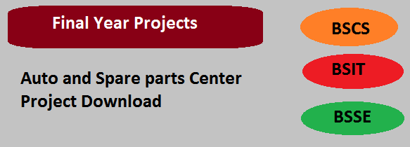 Auto and Spare parts Center Project Download