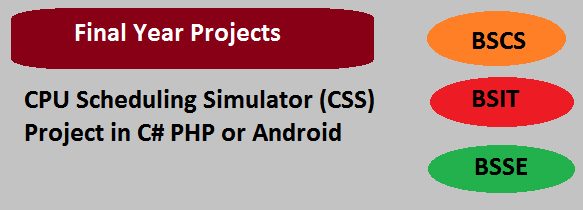 CPU Scheduling Simulator (CSS) Project in C# PHP or Android