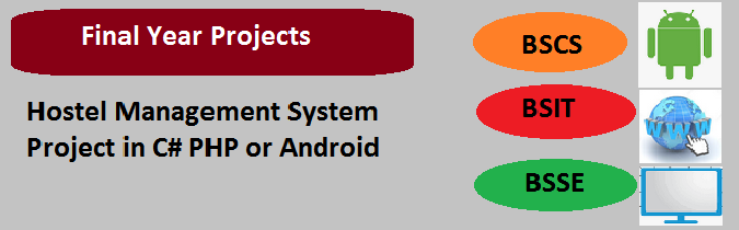Hostel Management System Project in C# PHP or Android