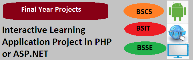 Interactive Learning Application Project in PHP or ASP.NET