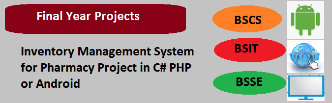 Inventory Management System for Pharmacy Project in C# PHP or Android