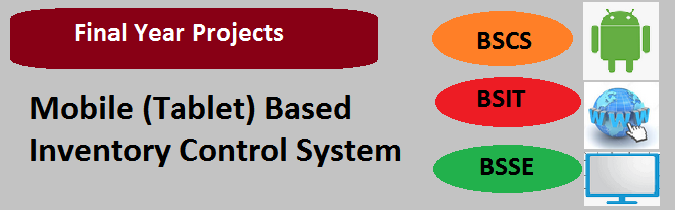 Mobile (Tablet) Based Inventory Control System