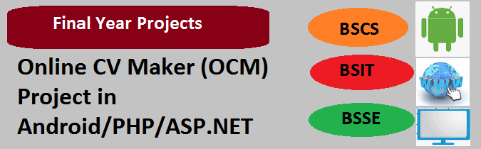 Online CV Maker (OCM) Project in Android PHP ASP.NET