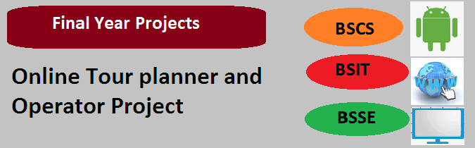 Online Tour planner and Operator Project
