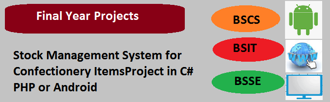 Stock Management System for Confectionery ItemsProject in C# PHP or Android