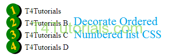 Decorate Ordered Numbered list CSS