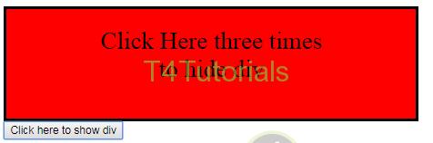 Hide Ad Unit When Multiple Clicks Together