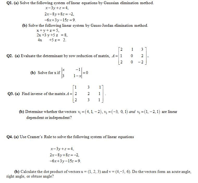Past Guess Applied Linear Algebra.